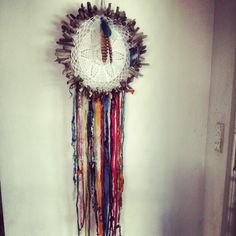 Hand made driftwood doily dreamcatcher by Driftwood Gypsy