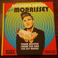 So happy, got this vegan cook book from a lovely friend. Defensive Eating with Morrissey. It's fabulous, thank you so much!     x  #vegan #veganfood #veganuary #vegetarian #veggie #veganrecipes #recipes #morrissey #cookbook #cooking #food