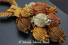 Best 11 Seedpods 2 by Manek-Manek Beads – Jewelry Jewelry Kits, Seed Bead Jewelry, Beaded Jewelry, Beaded Bead, Jewellery, Beading Projects, Beading Tutorials, Beading Patterns, Beading Techniques