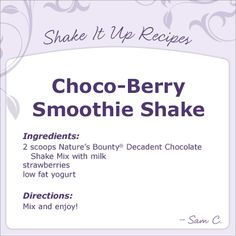 Great protein shake recipe!
