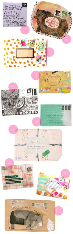 Beautiful mail art envelopes