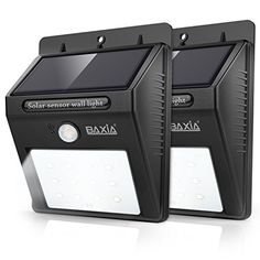 BAXIA TECHNOLOGY Wireless Security Motion Sensor Solar Night Lights - http://freebiefresh.com/baxia-technology-wireless-security-motion-sensor-review/