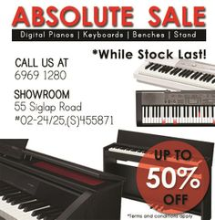 http://www.pianokeyboard.com.sg/promotion/ - Piano Keyboard Promotion Get up to 50% for selected keyboard models (display sets)