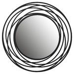 <strong>Fluent Round Wall Mirror</strong> by Brayden Studio