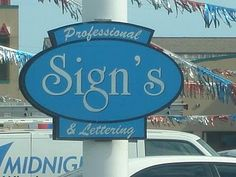 This is wrong in so many ways. 1) Incorrect punctuation, 2) Hideous design, 3) Bad typography (kerning anyone?) and 4) They're a SIGN company! Did I miss anything?