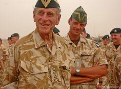 he Duke of Edinburgh visited The Queen's Royal Hussars Battlegroup in Basra in 2006.