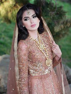 Pakistani Bride not Indian - Modern Pakistani Wedding Dresses, Pakistani Outfits, Indian Dresses, Indian Outfits, Middle Eastern Fashion, Middle Eastern Wedding, Middle Eastern Makeup, Desi Bride, Asian Bridal