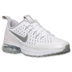 Men\u0026#39;s Nike Air Max Supreme 3 Running Shoes | Finish Line | White/Metallic Silver/White