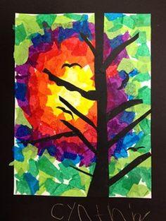 Blooming Trees Art Craft Kindergarten Pinterest