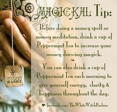 Money Spells or Meditation…..Magickal Tips & Hints – Witches Of The Craft®