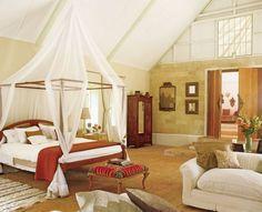 Exotic Bedroom by Elizabeth Warner and Anthony Russell in Nairobi, Kenya