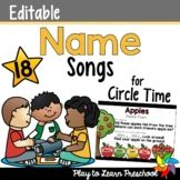 e Preschool Name Recognition, Preschool Names, Teacher Resources, Teacher Pay Teachers, Name Songs, Unit Plan, Circle Time, Letter Sounds, Play To Learn