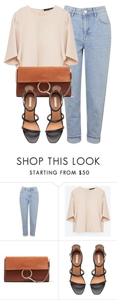 """Untitled #5783"" by laurenmboot ❤ liked on Polyvore featuring Topshop, Zara, Chloé and H&M"