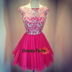 Short Bead Red Prom Dress / Mini Homecoming Party by dresstells Grad Dresses, Prom Party Dresses, Dresses For Teens, Cheap Dresses, Homecoming Dresses, Cute Dresses, Beautiful Dresses, Evening Dresses, Short Dresses