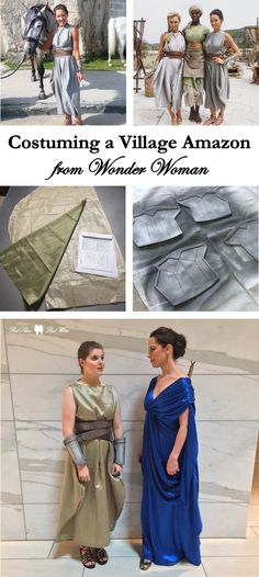 Costuming a Village Amazon from Wonder Woman (how-to, film, movie, amazonian, themyscira, diana prince, warrior women, amazons, costume, cosplay, dragoncon, easy, foam, sewing)
