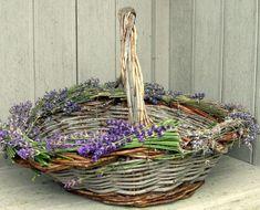 Basket with lavender