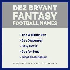 2019 fantasy football team names