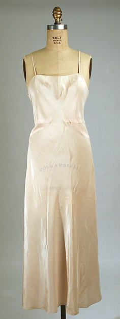 Slip (image 1) | Madeleine Vionnet | French | 1930s | silk | Metropolitan Museum of Art | Accession Number: 1976.29.20