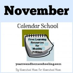 Calendar School - Free Monthly Learning Resources -