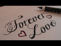 cursive fancy letters - how to write cursive fancy letters Forever Love