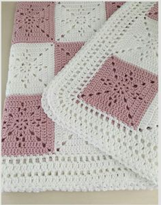yarn Pictures Ganchillo - Crochet Blanket Pattern Arielle's Square Baby Blanket Easy Granny Square Crochet Throw Afghan Pattern by Deborah O'Leary Patterns. Granny Square Crochet Pattern, Afghan Crochet Patterns, Knitting Patterns, Crochet Granny, Baby Patterns, Easy Crochet, Free Crochet, Crochet Squares Afghan, Crochet Quilt