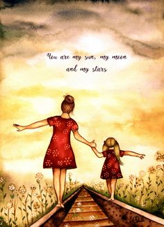 """Mutter und Tochter """"Unser Weg"""" Kunstdruck-Geschenk-Idee Muttertag Mother and Daughter """"Our Way"""" Art Print Gift Idea Mother's Day Mother Daughter Quotes, Mothers Day Quotes, To My Daughter, Child Quotes, Family Quotes, Quotes Quotes, Daughters, Baby Quotes, Father Daughter"""