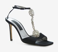 Christian Lacroix Black And Silver Slingback