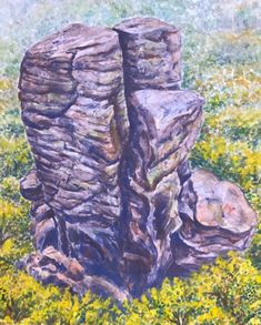 Minimax.cz - umělecký server pro všechny autory - VTÁČNIK Watercolor Landscape, Rocks, Trees, Nature, Plants, Naturaleza, Tree Structure, Stone, Plant
