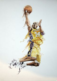 Kobe bryant watercolour on Behance Bryant Bryant Black Mamba Bryant Cartoon Bryant nba Bryant Quotes Bryant Shoes Bryant Wallpapers Bryant Wife Basketball Art, Basketball Legends, Basketball Players, Custom Basketball, Kobe Bryant Tattoos, Kobe Bryant Pictures, Kobe Bryant 24, Kobe Bryant Black Mamba, Lakers Kobe