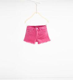 ZARA - KIDS - Frayed Bermuda shorts