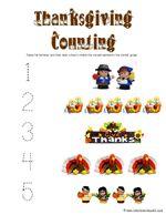 1+1+1=1...Thanksgiving Preschool Pack- Lots of cute worksheets for Thanksgiving for Preschoolers