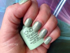 Cnd shellac#open road collectie#mint convertible#additives#sea glass#