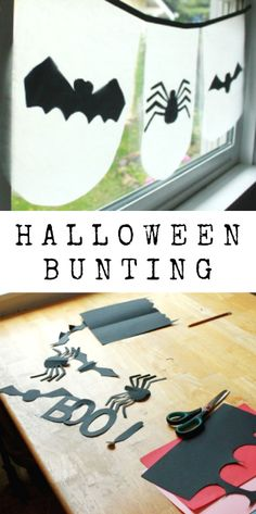 Want to make a Halloween bunting to decorate your house or classroom? Here's one that's quick and cheap to make & uses materials you probably already have.
