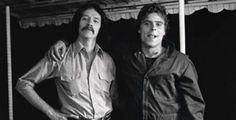 John Carpenter and Tony Moran on the Halloween set