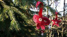 Décorations de noël crochetées main en forme d'étoiles, champignons et noeuds : Accessoires de maison par bob-ine