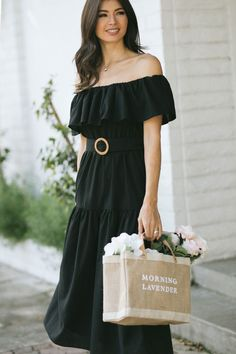 Shop the Brandi Off The Shoulder Tiered Dress - boutique clothing featuring fresh, feminine and affordable styles. Boutique Dresses, Boutique Clothing, All Black Everything, Tiered Dress, Bridesmaid Dresses, Wedding Dresses, Affordable Fashion, Off The Shoulder, Feminine