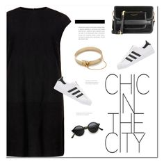 """Chic in the city"" by duciaxoxo ❤ liked on Polyvore featuring MuuBaa, Marc Jacobs, adidas Originals, Eddie Borgo, StreetStyle, cool, chic, urban and summer2016"