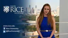 """""""Inside Rice University"""" hosted by Rice senior Susannah Eig is scheduled to air on HISD-TV Mondays at 7 p. Rice University, March 2014"""