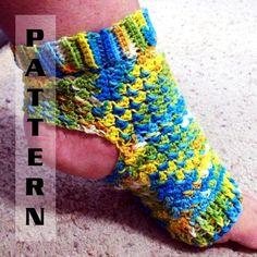 Yoga Socks Ballet Pilates Dance Foot Pedicure Flip Flop - Crochet Pattern 501