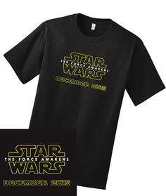 #starwars #theforceawakens t-shirt www.etsy.com/listing/259116663/the-force-awakens-mens-star-wars-tee-big