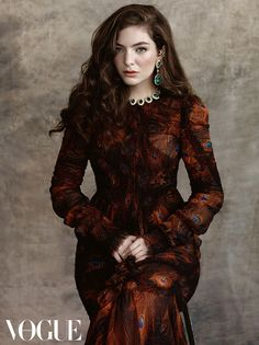 Lorde wears a Givenchy dress in this image for Vogue Australia