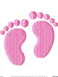 Baby Feet Machine Embroidery Mini Design by SimplySweetEmbroider, $2.00