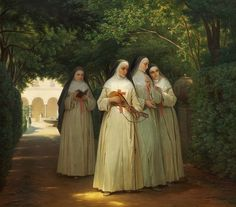 Damsel of the Faith — roothaan: Jorgen Sonne (Danish,1801–1890)