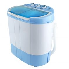 Pyle Electric Portable Washer & Spin Dryer, Mini Washing Machine and Spin Drying Twin Tub Washer for Dorms, College Rooms, RV Camping Swim Suit Spinner Dryer, White Mini Washing Machine, Portable Washing Machine, Washing Machines, Compact Laundry, Small Laundry, Laundry Pods, Portable Washer And Dryer, Spin Dryers, Dryers For Sale