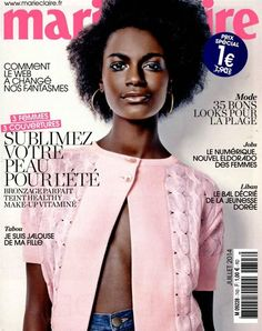Kelly Moreira looking like a Sunday morning gone haute couture on the cover of Marie Claire: just another reason to move to France.