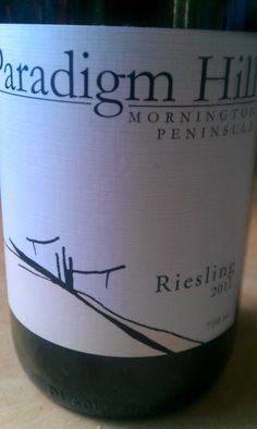 Paradigm Hill Mornington Peninsula Riesling 2011. An impressive vineyard on the Mornington Peninsula. Probably most famous for their Pinot Noir, I have always had a soft spot for their Riesling.   The Riesling has nice crunchy, zesty acidity, floral notes and a grapey, melon like edge. Great texture too. Brilliant Spring drinking this year or even better in five Springs from now.   $35ea