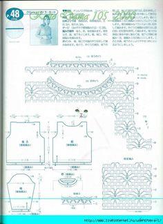 Maravilhas do Crochê: Blusa de Frio_Japonês