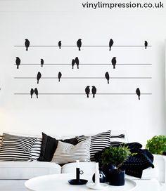 Birds on a wire Vinyl Wall Sticker by Vinyl Impression