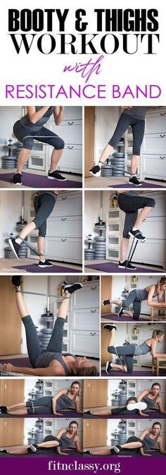 Booty and Thighs workout with resistance band which you can do at home or in the gym. Make your usual workout more demanding and get the results faster!