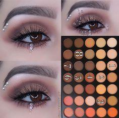 artistry palette looks Morphe 350 Eye Makeup Steps, Simple Eye Makeup, Natural Eye Makeup, Morphe Eyeshadow, Makeup Morphe, Morphe 35o, Eyeshadows, Morphe 350 Palette Looks, Morphe Palette